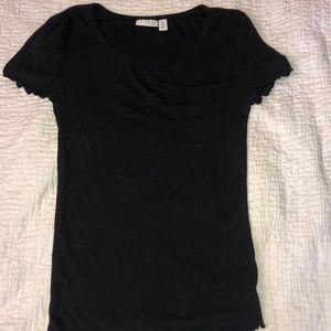 black lettuce sleeve t-shirt